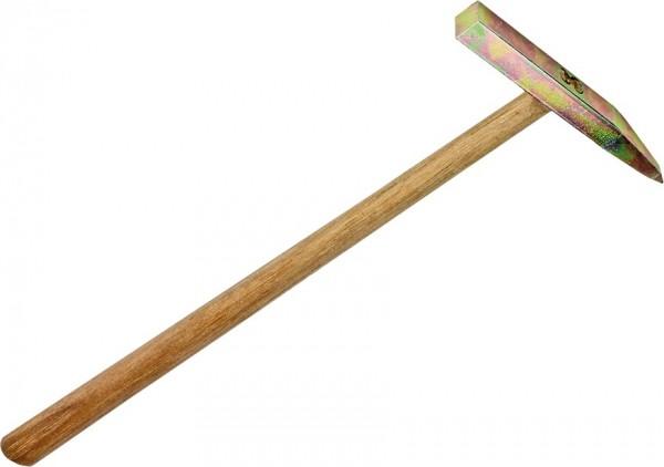 Fliesenhammer mit Hartmetallspitze und Holzgriff