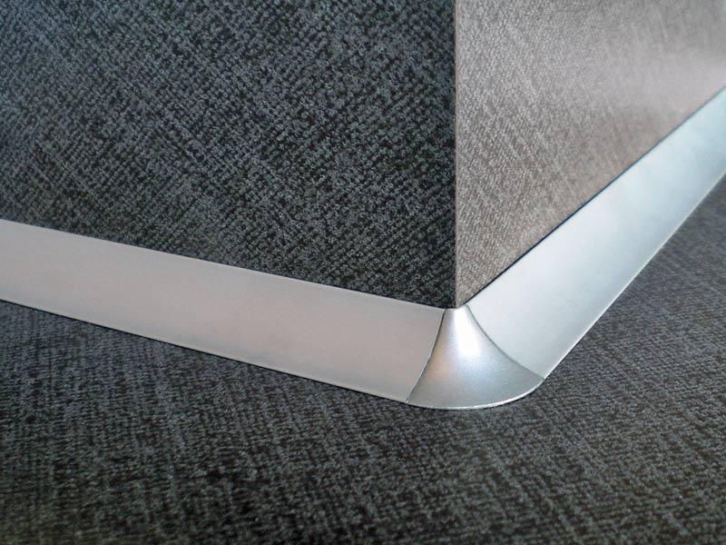 Anschlussprofil Außenecke silber
