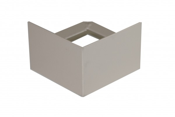 Balkonecke ohne Tropfkante Aluminium beschichtet beige