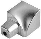 Innenecke Aluminium silber hochglanzeloxiert