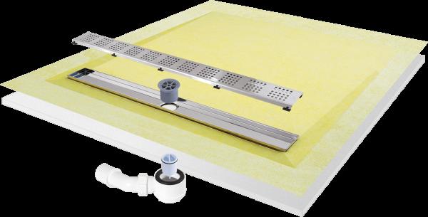 Duschboard komplett-Set mit 4-seitigem Gefälle