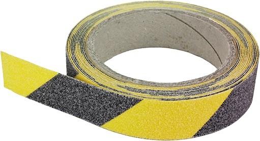 Rutschhemmendes Klebeband schwarz/gelb 25mm