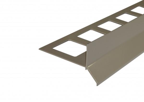 Balkonprofil Y-Form Dickbett Aluminium beschichtet beige