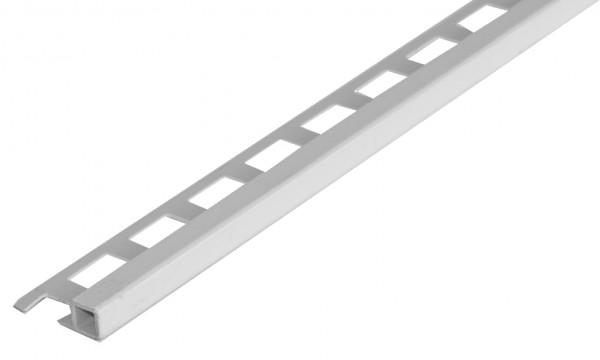 Quadratprofil PVC silbergrau