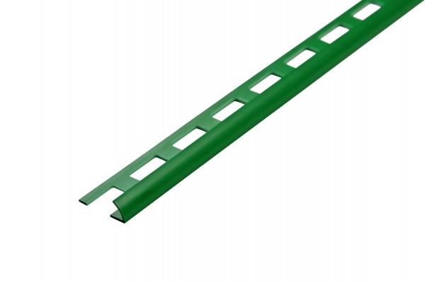 Viertelkreisschiene farngrün PVC offen