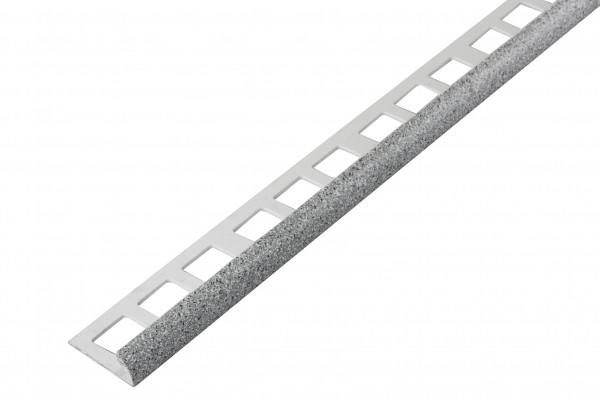 Rundprofil PVC granitweiß offen