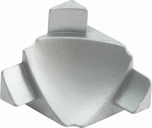 Anschlussprofil 3D Innenecke Metalldruckguss silber