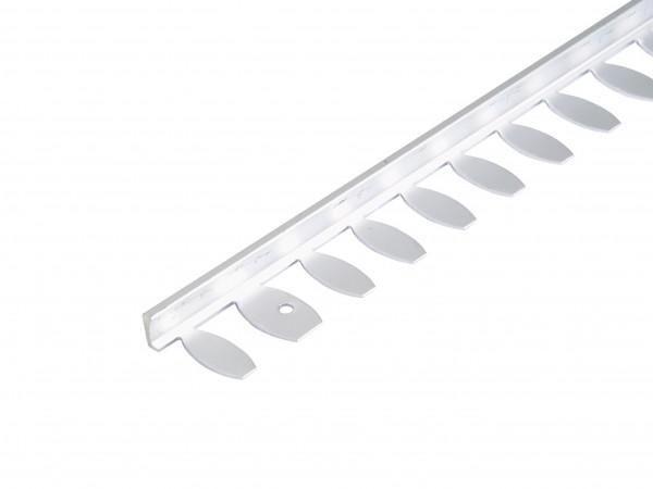 Flexibles Winkelprofil zum Biegen silber eloxiert