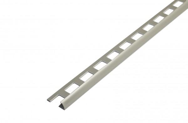 Viertelkreisprofil offen PVC grau