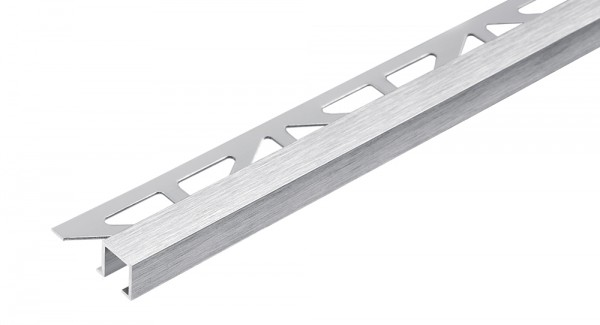 Quadratprofil Aluminium silber hochglanzeloxiert gebürstet 250 cm