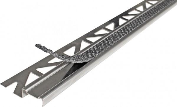 Treppenprofil aus Aluminium mit Antirutschbeschichtung anthrazit