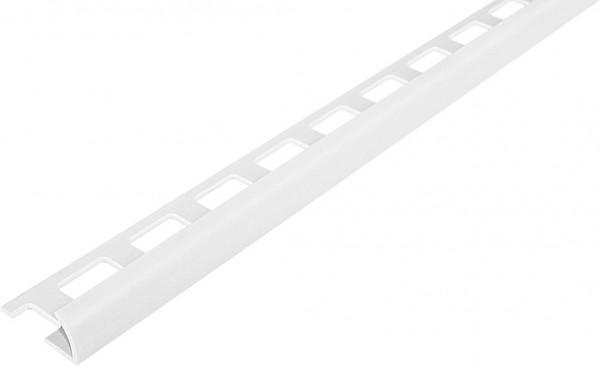 Viertelkreisprofil offen PVC weiß