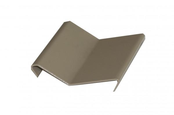 Balkonverbinder mit Tropfkante Aluminium beschichtet beige