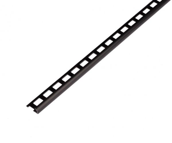 Rundprofil schwarz PVC offen