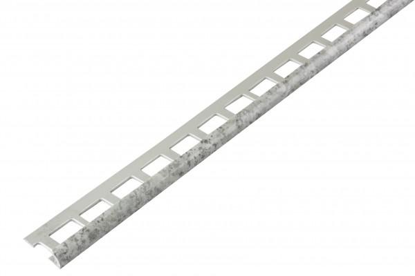 Rundprofil PVC granitgrau offen