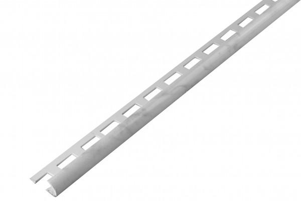 Rundprofil PVC marmorweiß offen