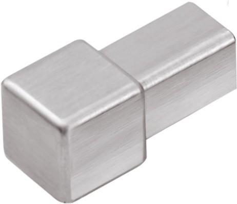 Quadratecke Edelstahl Feinschliff