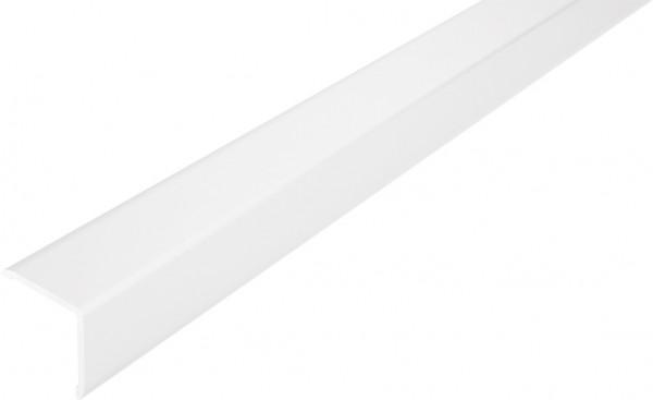 Eckschutzwinkel dreifach gekantet aus Aluminium weiss beschichtet 250 cm