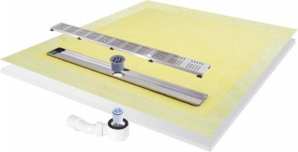 Duschboard komplett-Set mit einseitigem Gefälle